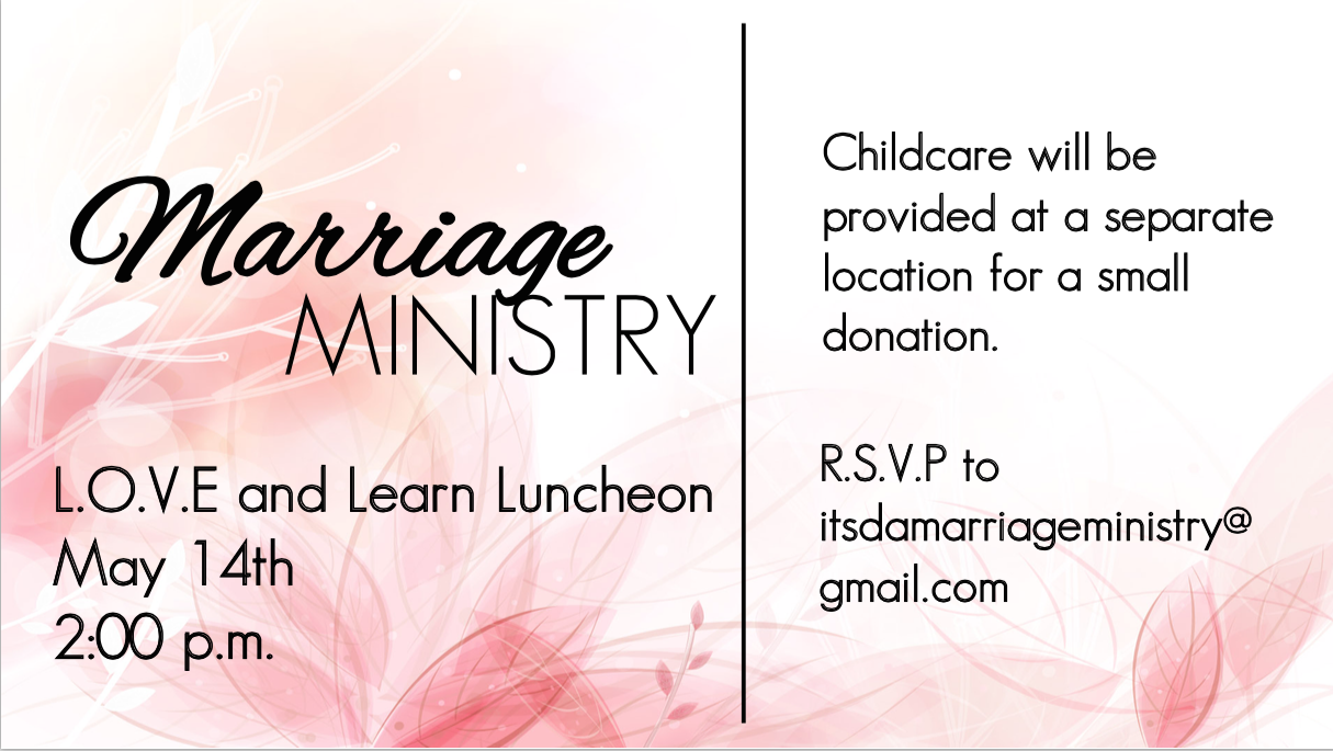 Marriage Ministry - May