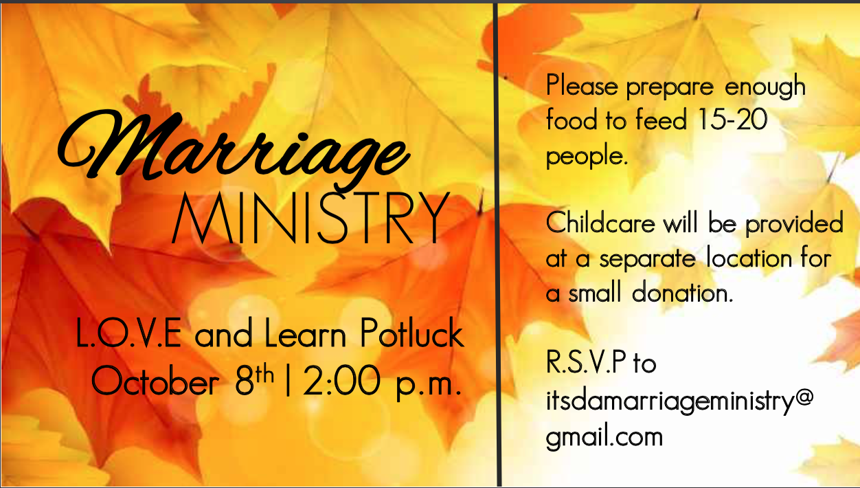 Marriage Ministry Potluck